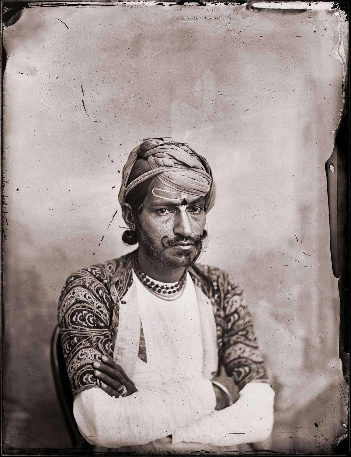 Maharaja Sawai Ram Singh II, self-portrait, digital reprint from wet collodion glass plate negative, c. 1870 CE. A Reflective Oeuvre is on at Art Heritage Gallery co-hosted by The Alkazi Foundation.