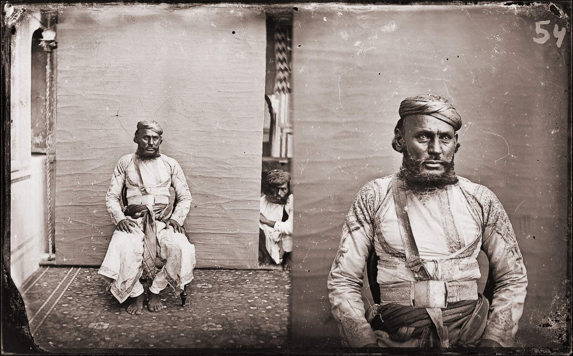 Maharaja Sawai Ram Singh II, digital reprint from wet collodion glass plate negative, c. 1870 CE. A Reflective Oeuvre is on at Art Heritage Gallery, Delhi co-hosted by The Alkazi Foundation.