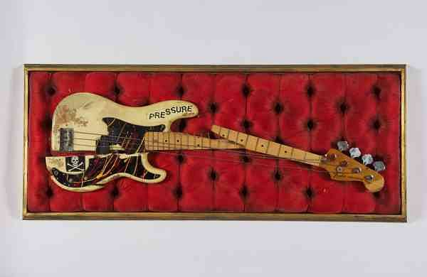 Paul Simonon's broken Fender Precision Bass (Source: The Clash archive)