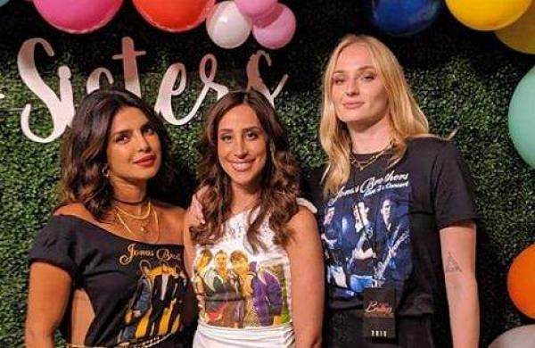 Priyanka Chopra with Danielle Jonas and Sophie Turner