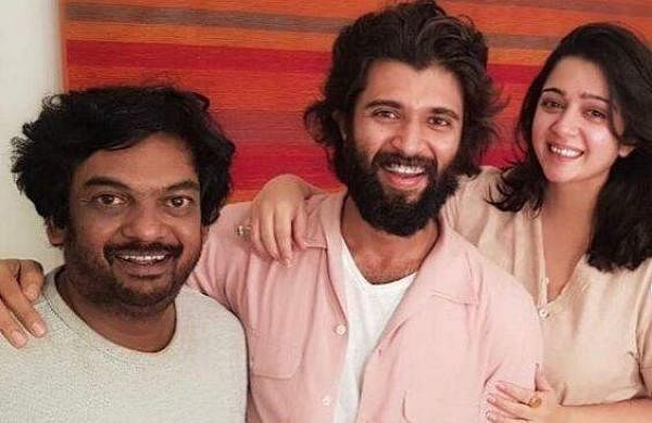 Vijay Deverakonda with Puri and Charmme