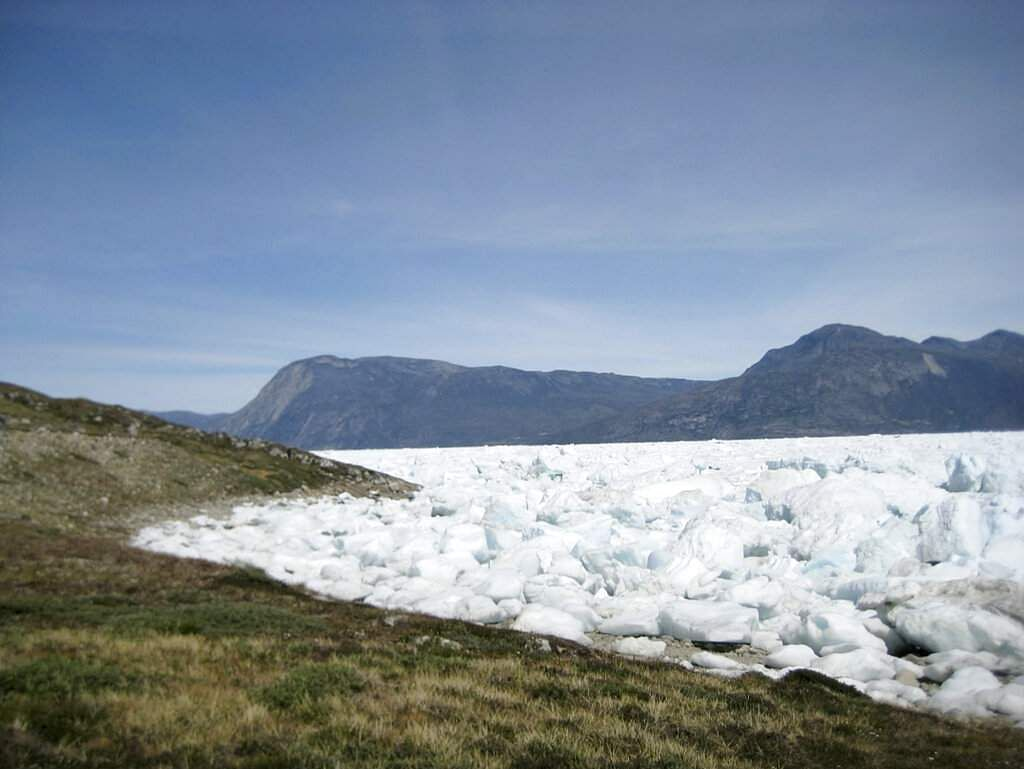 The Kangersuneq glacial ice fields in Kapissisillit, Greenland where concerns are rising over the increased melting of ice. (AP Photo/Keith Virgo)