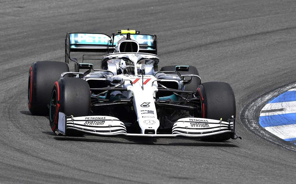 Mercedes driver Valtteri Bottas on a qualifying session at Hockenheimring racetrack in Hockenheim, Germany. Mercedes has a point to prove at the upcoming Hungarian GP. (AP Photo/Jens Meyer)