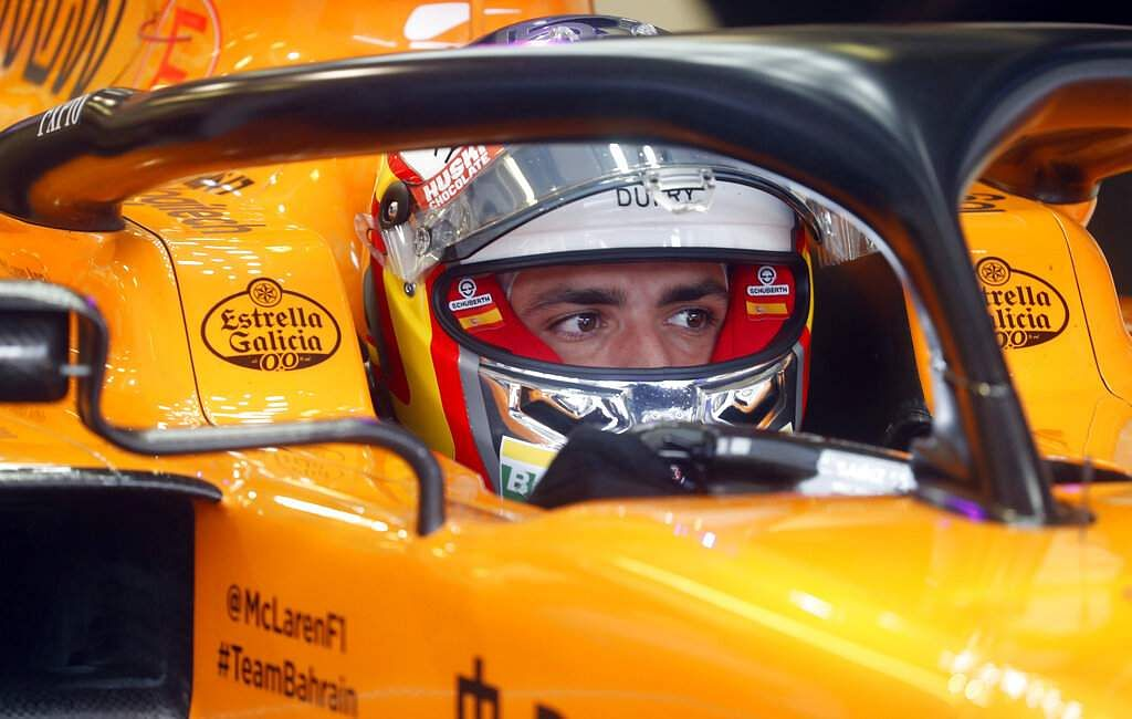 Mclaren driver Carlos Sainz on a practice run of the Hungarian Formula One Grand Prix at the Hungaroring racetrack in Mogyorod, Hungary. The Hungarian F1 GP is on Sunday. (AP Photo/Laszlo Balogh)