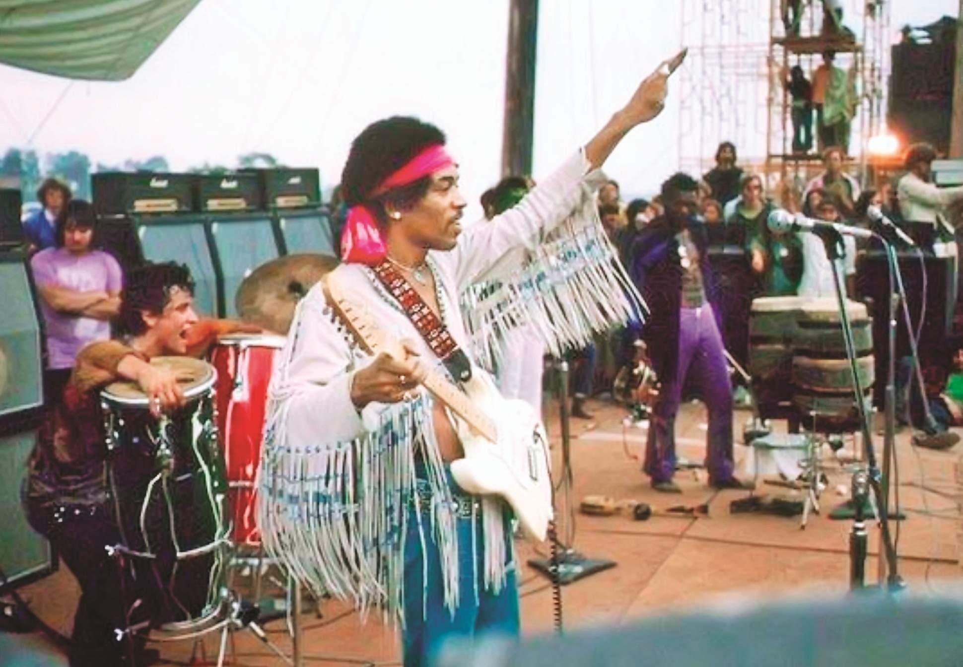 Jimi Hendrix at Woodstock 1969 (Image: Internet)