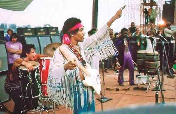 Jimi Hendrix at Woodstock 1969 (Image: Internet)
