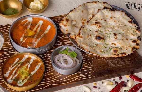 Kulcha with Butter Chicken. Picture courtesy: Potteery Nine