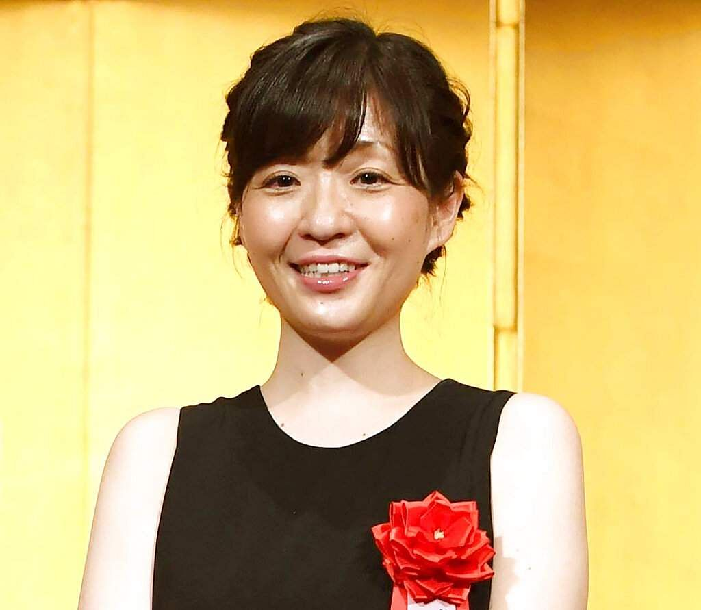 Japanese novelist Sayaka Murata wins the Akutagawa Prize. Murata, then 36, shared the stage with Naomi Watanabe, 'the Japanese Beyonce' and one of Vogue Japan's Women of the Year. (Kyodo News via AP)