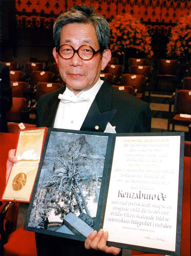 Japanese novelist Kenzaburo Oe receives the Nobel Prize for literature in Stockholm, Sweden. A wave of female writers is now winning prizes and being translated. (AP Photo/Tobbe Gustavsson)