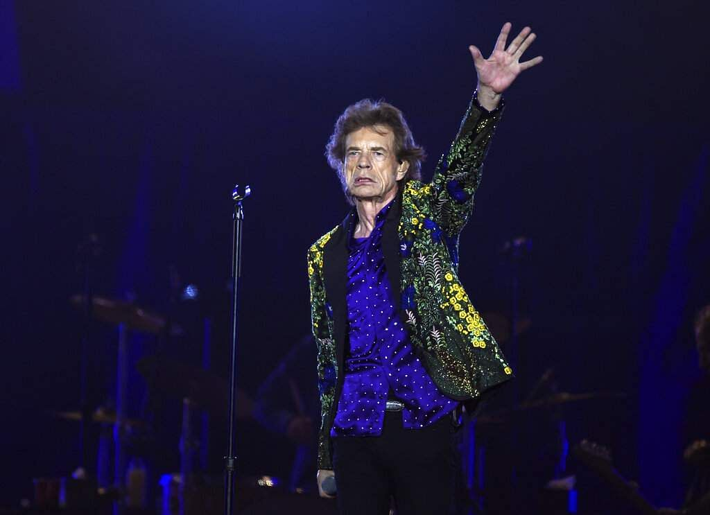 Mick Jagger of the Rolling Stones performs during the group's concert at the Rose Bowl, Thursday, Aug 22, 2019, in Pasadena, Calif. (Photo by Chris Pizzello/Invision/AP)