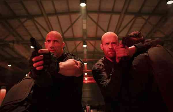 Dwayne Johnson and Jason Statham in Fast & Furious Presents: Hobbs & Shaw (Daniel Smith/Universal Pictures via AP)