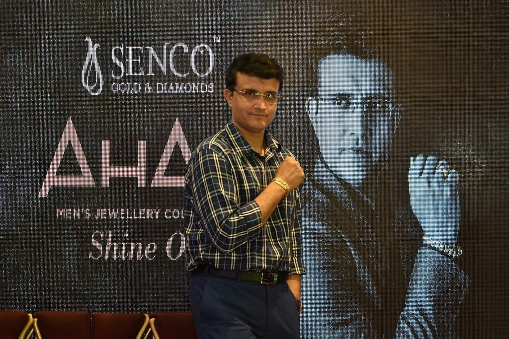 Senco Gold Damonds launched by Saurav Ganguly