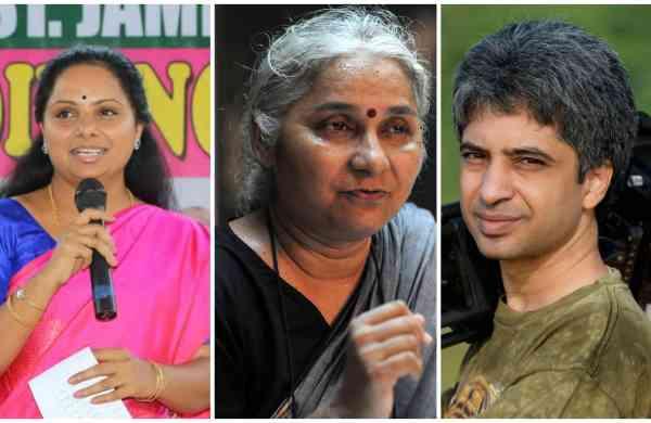 K Kavita, Medha Patkar and Shekar Dattatri