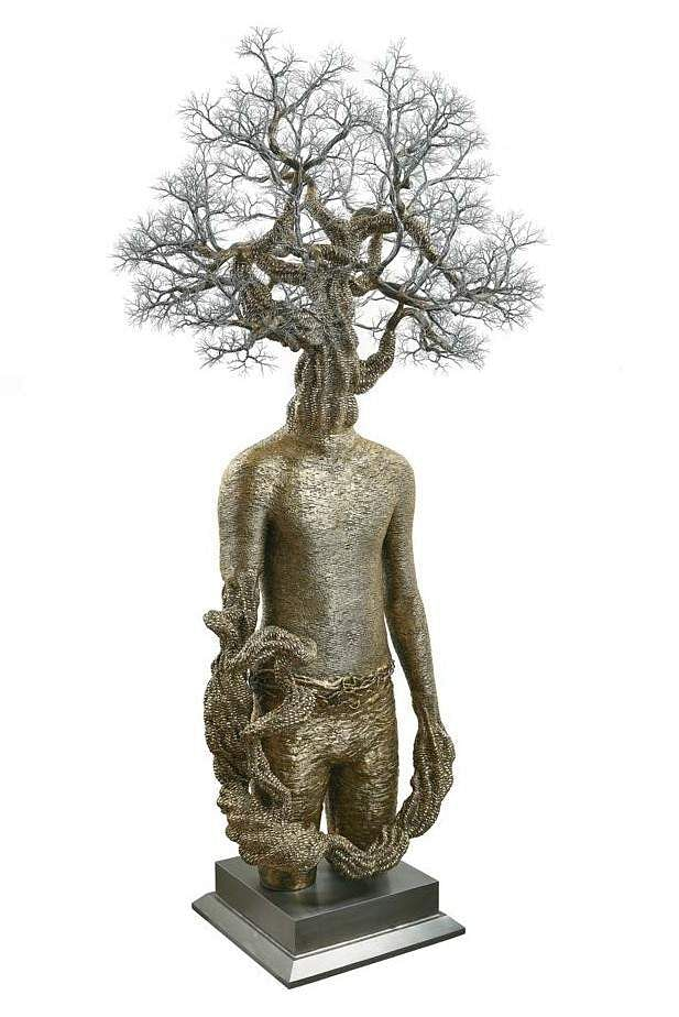 Dhananjay Singh's I am Within You (Stainless steel & bronze) INR 6,00,000 – 8,00,000 | US$ 9,023 – 12,030. The AstaGuru South East Asian online auction is on Aug 22-23.