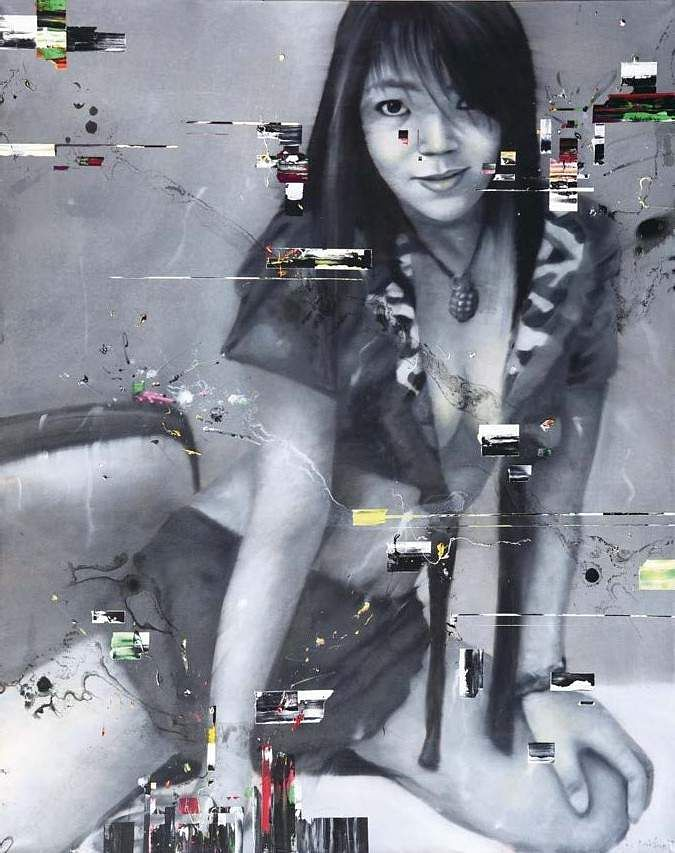 Li Tianbing's Femme #4 (Oil on canvas) INR 16,62,500 – 23,27,500 | US$ 25,000 – 35,000. The AstaGuru South East Asian online auction is on Aug 22-23.