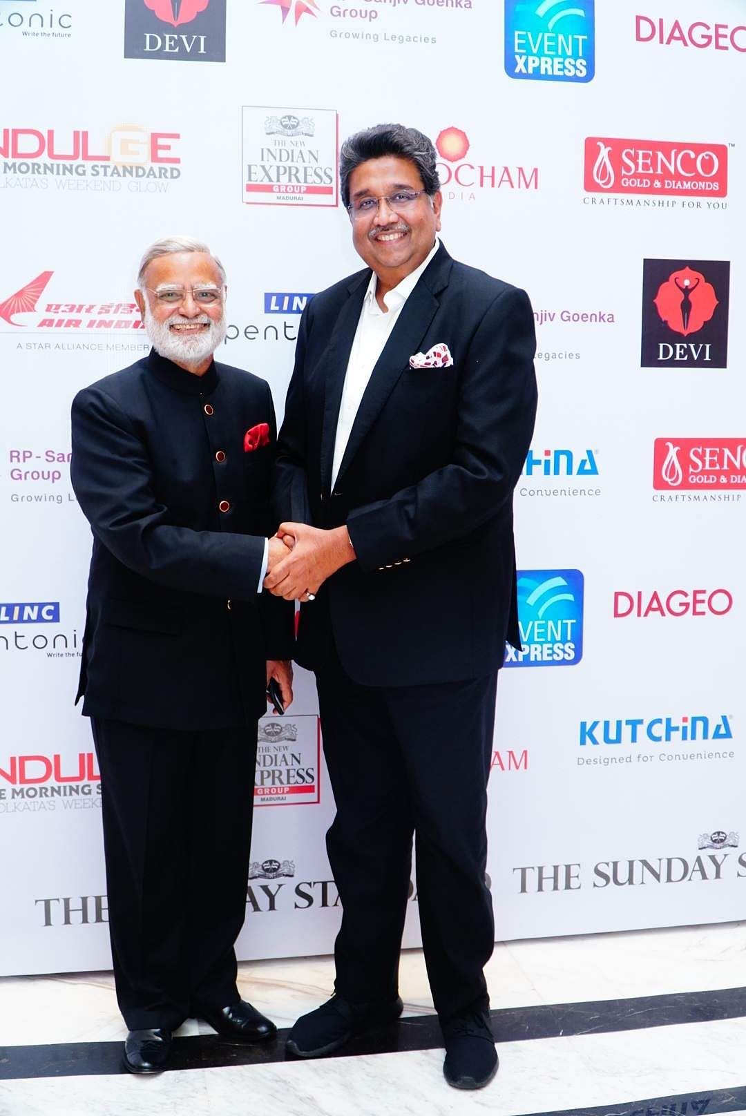 Prabhu Chawla, editorial director The New Indian Express Group with Harshavardhan Neotia Chairman of the Ambuja Neotia Group