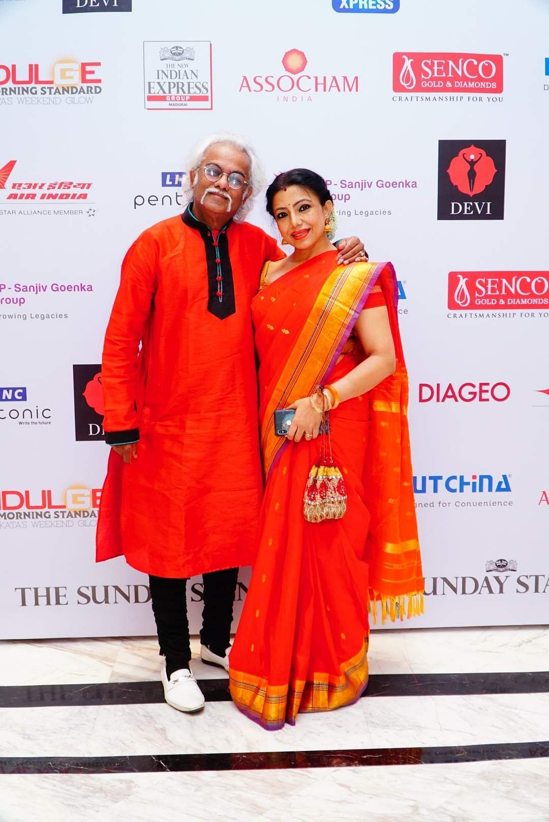Maestro Tarun Bhattacharya with his wife, the dance exponent Sanchita Bhattacharya