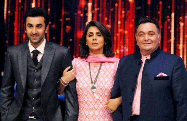 Ranbir, Neetu and Rishi Kapoor