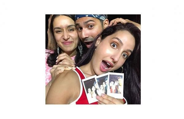 Nora Fatehi with Varun Dhawan and Shraddha Kapoor
