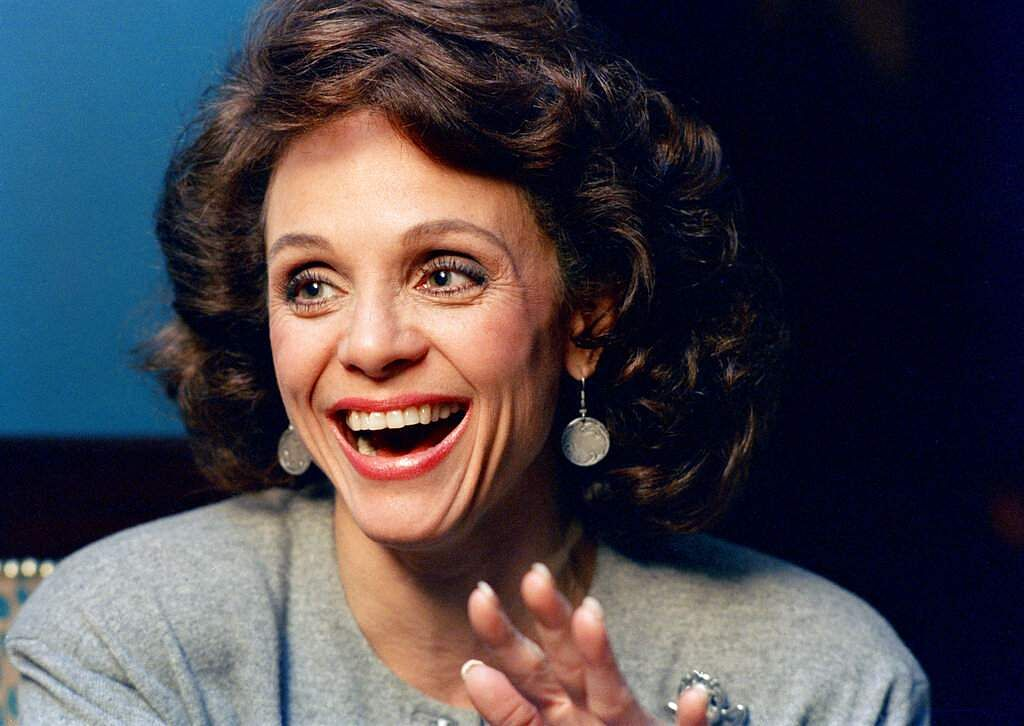 1987 file photo: Actress Valerie Harper in New York. Harper, who scored guffaws and stole hearts as Rhoda Morgenstern on hit sitcoms in the 1970s, died at age 80 on Aug 30, 2019. (AP Photo/Ron Frehm)