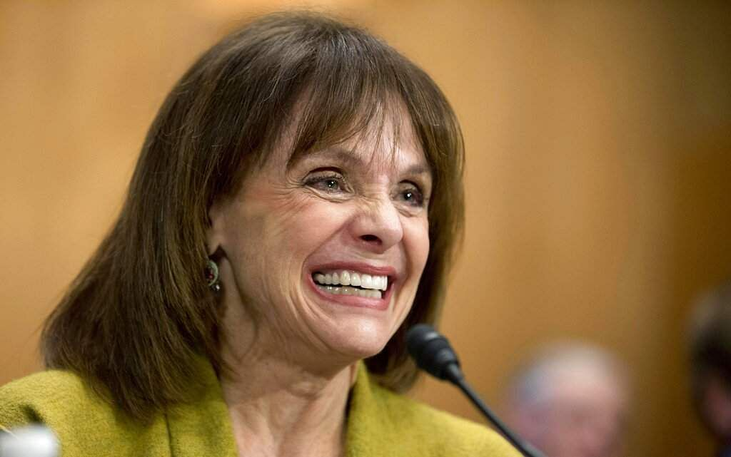 Cancer survivor Valerie Harper testifies before a Senate Special Committee on Aging hearing to examine the fight against cancer on Capitol Hill in Washington. (AP Photo/Manuel Balce Ceneta)