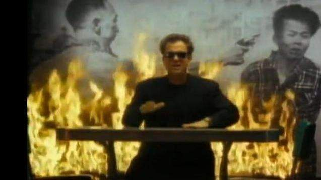 Billy Joel in the video of We Didn't Start the Fire