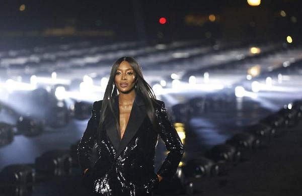 Model Naomi Campbell wears a creation as part of the Saint Laurent Ready To Wear Spring-Summer 2020 collection, unveiled during the fashion week, in Paris. (Photo by Vianney Le Caer/Invision/AP)