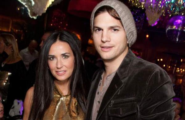Ashton Kutcher and Demi Moore