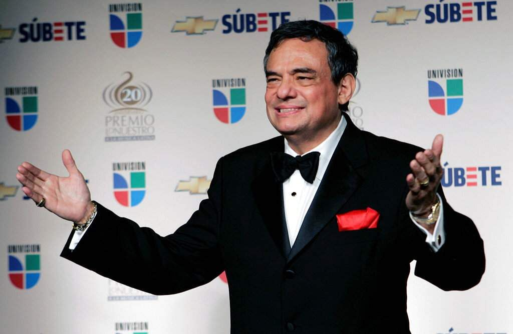 2008 file: Mexican singer Jose Jose backstage at the Premio Lo Nuestro Latin Music Awards in Miami. The Mexican crooner died on Sep 28, 2019. He was 71. (AP Photo/Lynne Sladky)