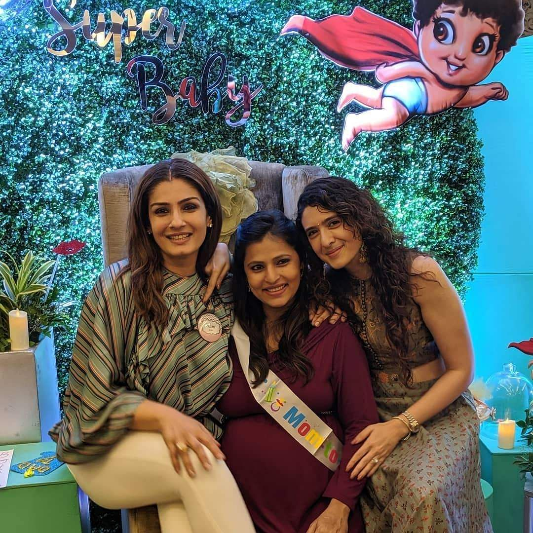 Pooja, who is also a nutrionist, took to her Instagram to share a few photographs from the bash, praising Raveena for her 'true love' for her adopted child. (Photo: IANS)