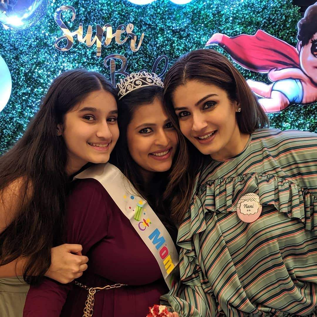 Chayya is Raveena's adopted daughter. When the 'Mohra' actress was in her 20s, she adopted two girls, Chhaya and Pooja. (Photo: IANS)