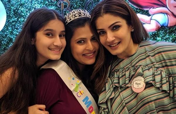 Actress Raveena Tandon, 44, is all set to become a 'nani' soon as her daughter Chhaya is expecting her first child. Raveena also recently hosted a baby shower for her daughter. (Photo: IANS)
