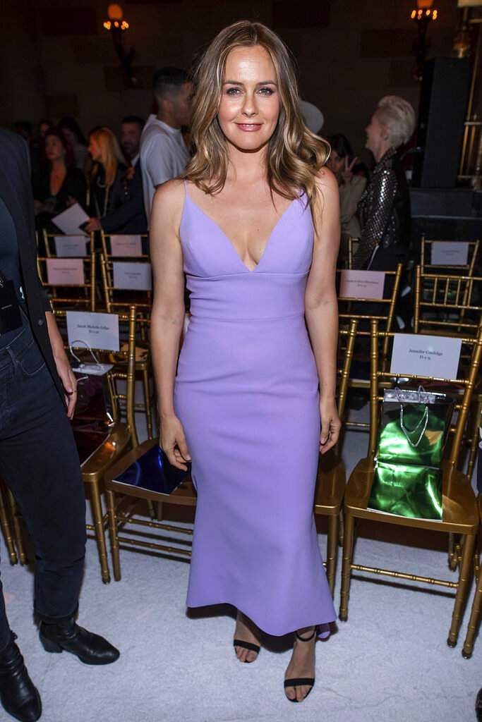 Alicia Silverstone attends the Christian Siriano show during Fashion Week on Saturday, Sept. 7, 2019 in New York. (Photo by Charles Sykes/Invision/AP)