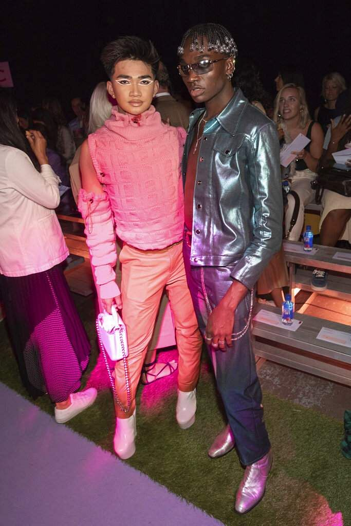 Bretman Rock and Rickey Thompson attend the Brandon Maxwell runway show at NYFW Spring/Summer 2020, in the Brooklyn borough of New York. (Photo by Brent N. Clarke/Invision/AP)