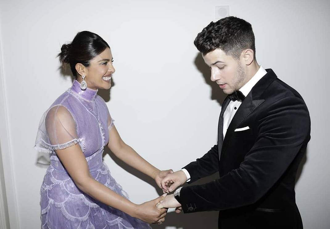 Priyanka Chopra & Nick Jonas (Photo: IANS)