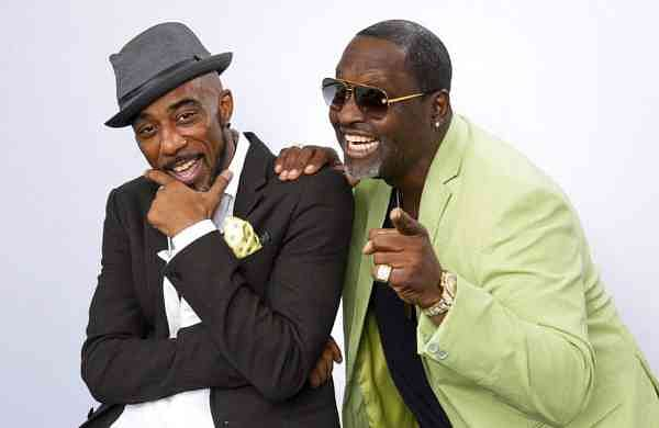 New Edition bandmates Ralph Tresvant and Johnny Gill (Photo by Willy Sanjuan/Invision/AP)
