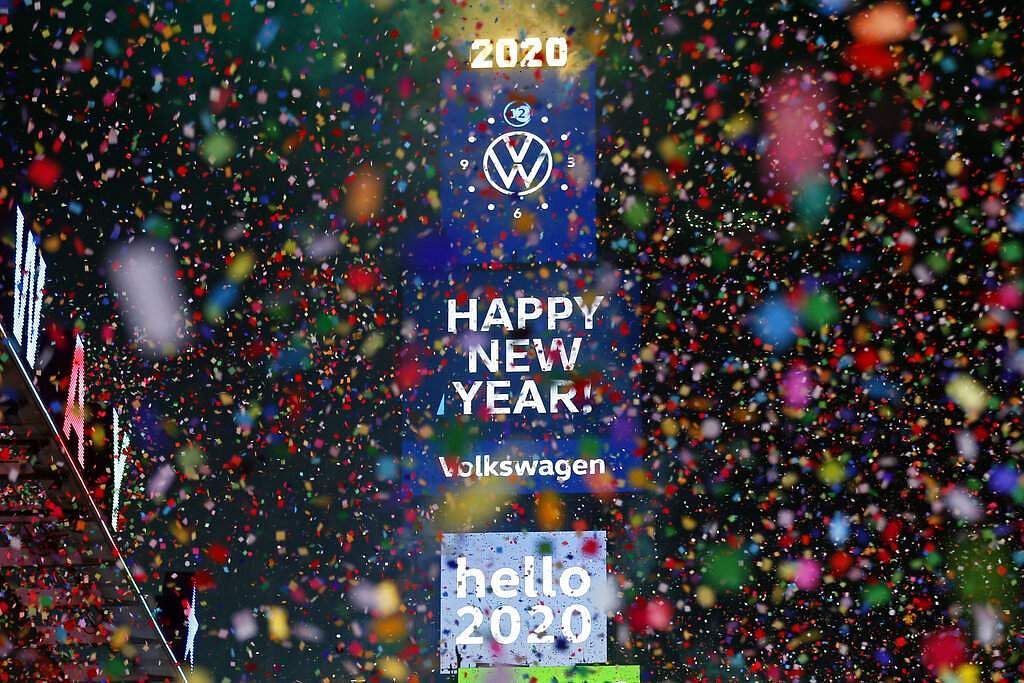 New Year's in New York's Times Square (AP Photo/Adam Hunger)