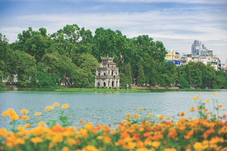 The Hoan Kiem Lake in Hanoi