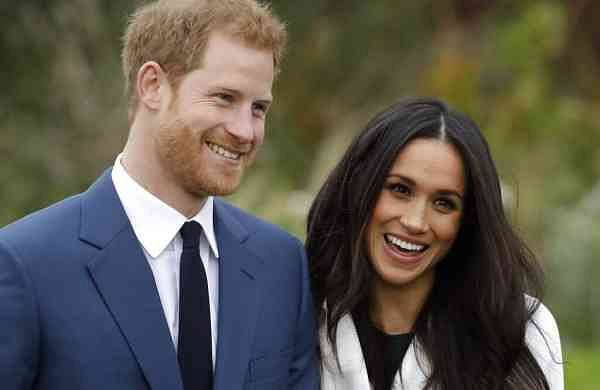 Britain's Prince Harry and his wife Meghan (AP Photo/Matt Dunham, File)