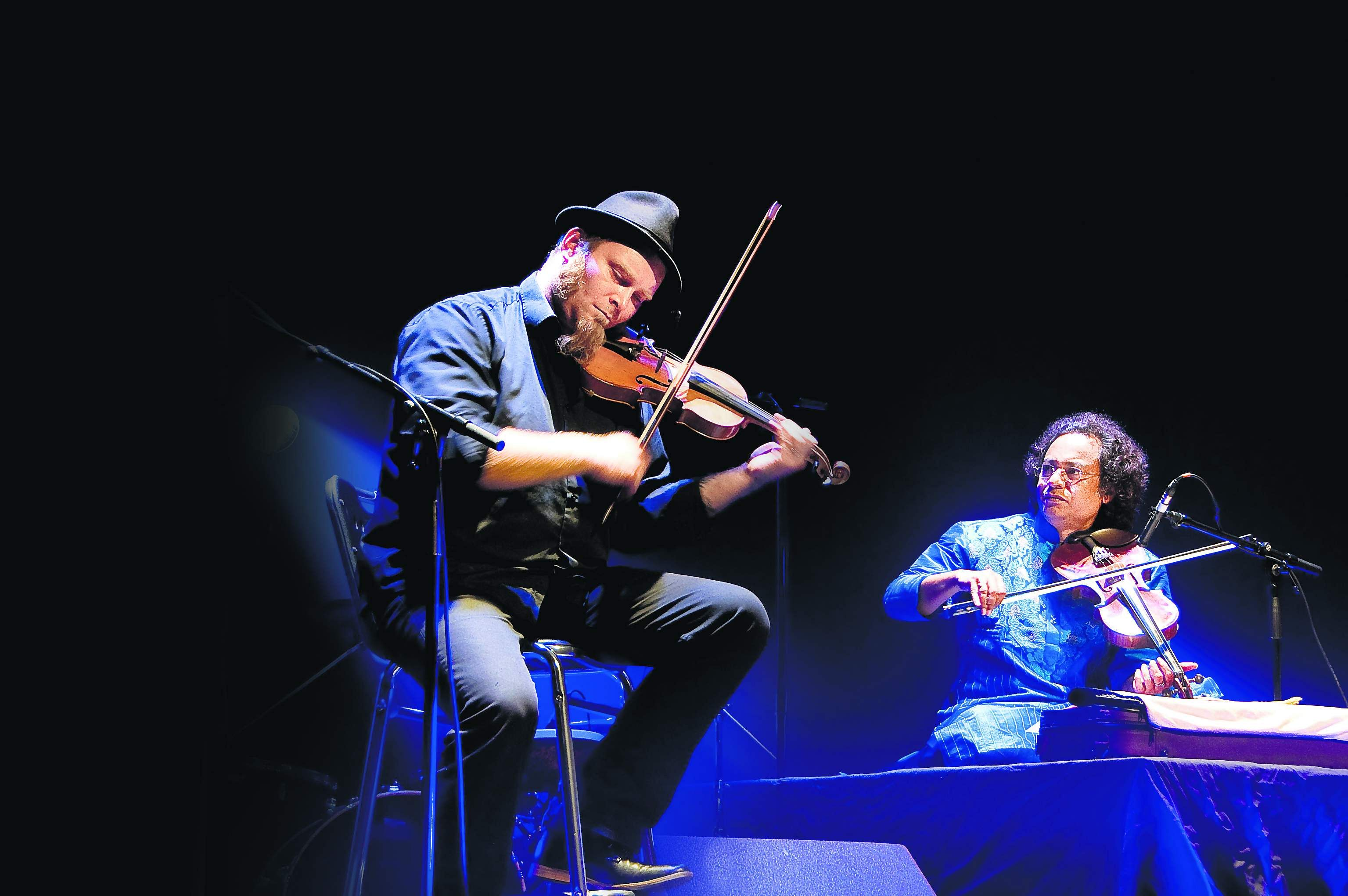 Antoine Marhem and Rupam Ghosh as Violin Nomads in an earlier performance