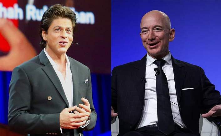 Amazon CEO Jeff Bezos calls SRK the most humble man he's met, the actor's reply has him in splits