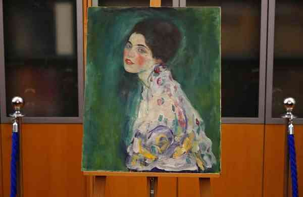 Gustav Klimt's Portrait of a Lady (AP Photo/Antonio Calanni)