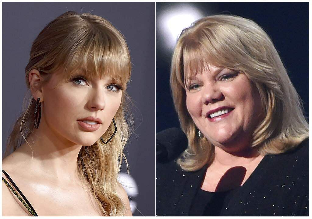 Taylor Swift and her mother Andrea Finlay (AP Photo)
