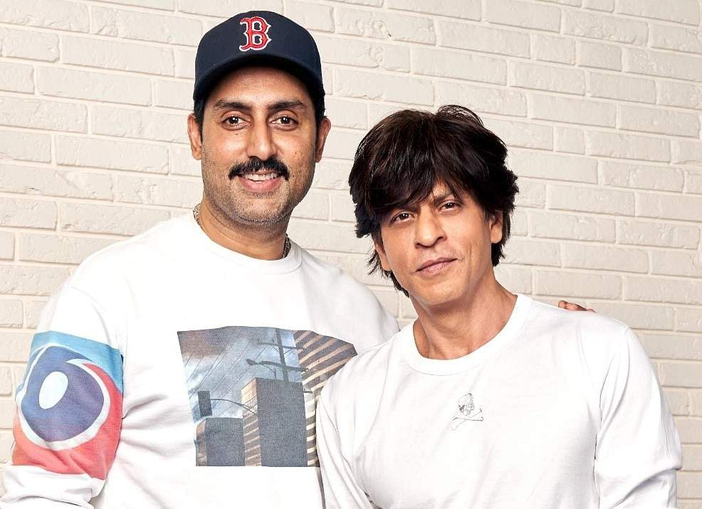 Abhishek Bachchan and Shah Rukh Khan (Photo: IANS)