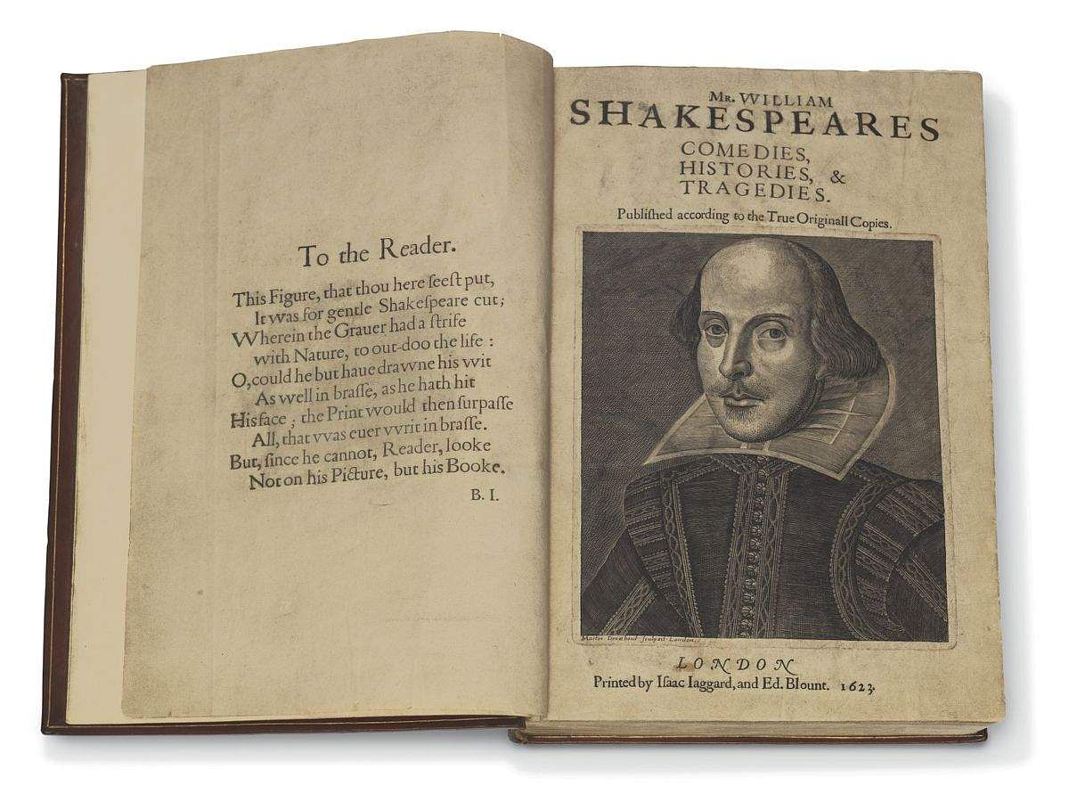 William Shakespeare (1564-1616); Comedies, Histories, & Tragedies; Published According to the True Original Copies; London: Printed by Isaac Jaggard and Ed Blount, 1623