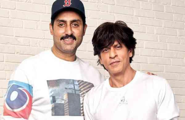 Abhishek Bachchan and Shah Rukh Khan (Photo: IANS)