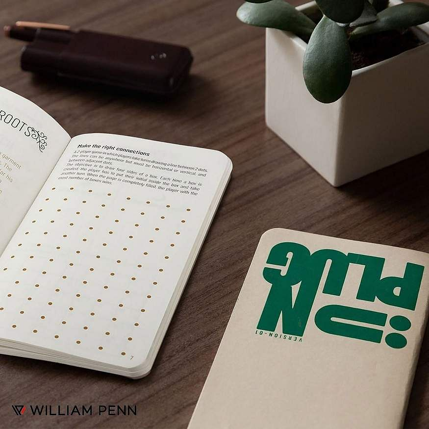 William Penn Quikrite Unplug: The perfect antidote to stay away from tech. A Notebook like no other, this one's filled with built-in games, puzzles and more to help you unwind. Buy one now. INR 200.
