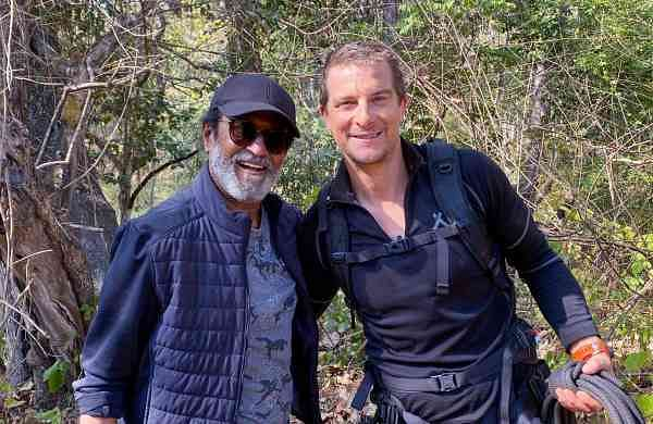 Rajinikanth and Bear Grylls (Source: Internet)