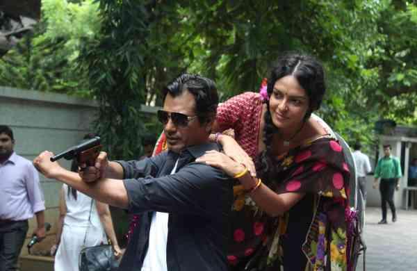Nawazuddin Siddiqui and Bidita Bag in Babumoshai Bandookbaaz (Photo: IANS)