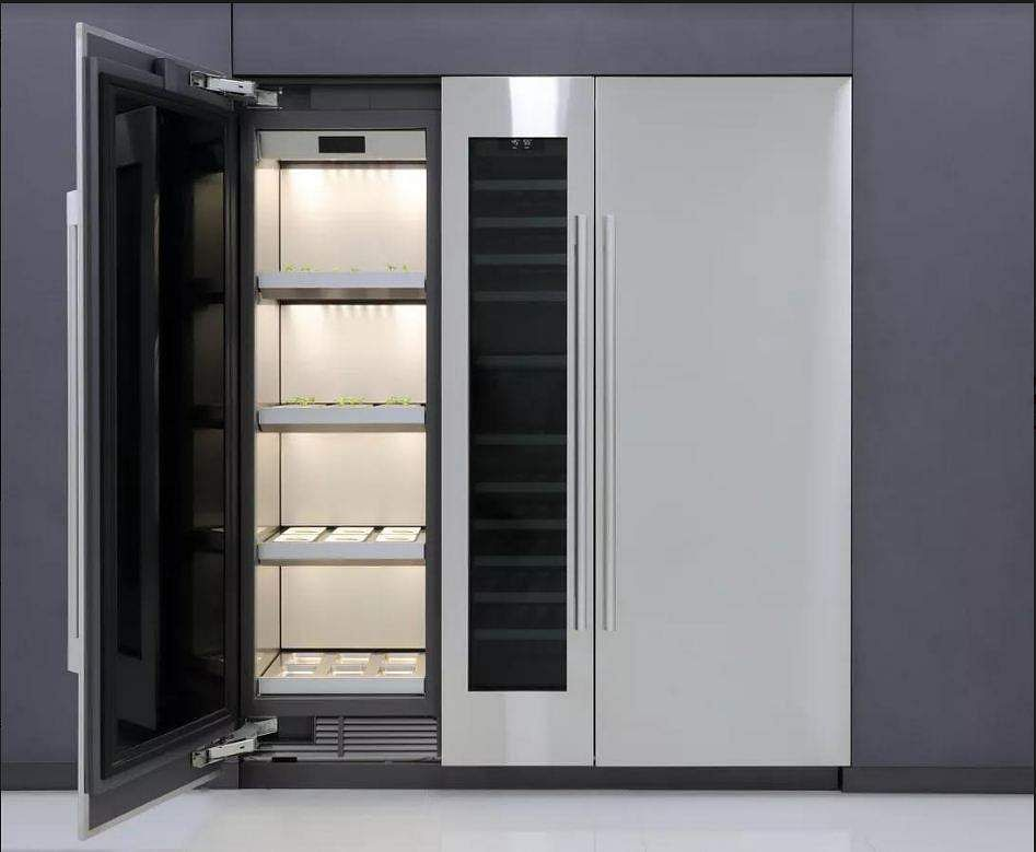 LG Indoor Garden: LG's concept vegetable cultivator aims to provide a solution for growing food, using advanced light, temp and water control, with seed packages and a growth-monitor app.